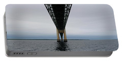 Under The Mackinac Bridge Portable Battery Charger