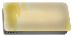 Untitled Abstract - Bisque With Yellow Portable Battery Charger