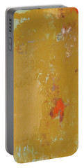 Untitled Abstract - Ochre Cinnabar Portable Battery Charger