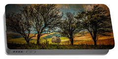 Portable Battery Charger featuring the photograph Up On The Sussex Downs In Autumn by Chris Lord