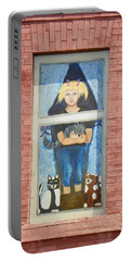 Portable Battery Charger featuring the photograph Urban Window 2 by Lenore Senior