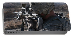 U.s. Army Sniper Scans A Village Portable Battery Charger