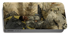 U.s. Army Specialist Takes A Nap Portable Battery Charger by Stocktrek Images