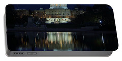 Us Capitol - Pre-dawn Getting Ready Portable Battery Charger