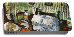Portable Battery Charger featuring the painting Van Gogh's Bedroom by Mario Carini
