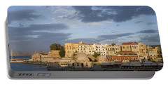 Venetian Harbor At Sunset Portable Battery Charger