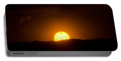 Venus Transit Setting Over The Rocky Mountains Portable Battery Charger