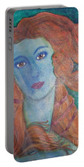 Portable Battery Charger featuring the painting Venus's Haze by Lucia Grilletto