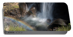 Vernal Falls Rainbow On Mist Trail Yosemite Np Portable Battery Charger