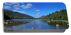 Portable Battery Charger featuring the photograph View Of Jordan Pond by Lynda Lehmann