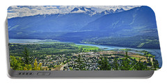 View Of Revelstoke In British Columbia Portable Battery Charger