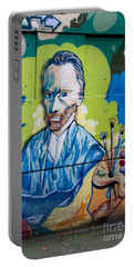 Portable Battery Charger featuring the digital art Vincent On The Wall by Carol Ailles