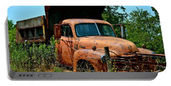 Portable Battery Charger featuring the photograph Vintage Old Time Truck by Peggy Franz