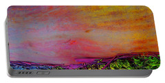 Portable Battery Charger featuring the digital art Walk Into The Future by Richard Laeton