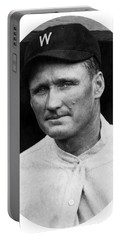 Portable Battery Charger featuring the photograph Walter Johnson - Washington Senators Baseball Player by International  Images