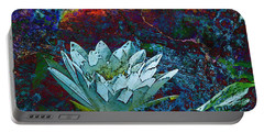 Water Lily Abstract Portable Battery Charger by Phyllis Denton