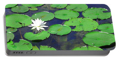 Portable Battery Charger featuring the photograph Water Lily by Clara Sue Beym