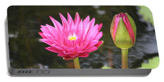 Portable Battery Charger featuring the photograph Water Lily by Donna  Smith