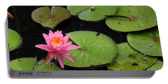 Water Lily Portable Battery Charger by Kay Lovingood