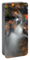 Water Over Rocks Portable Battery Charger by Kay Lovingood