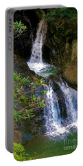 Waterfall In The Currumbin Valley Portable Battery Charger