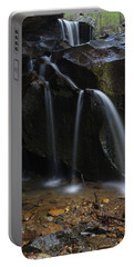Waterfall On Emory Gap Branch Portable Battery Charger by Daniel Reed