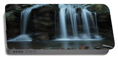 Waterfall On Flat Fork Portable Battery Charger by Daniel Reed
