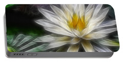Waterlily In Pseudo-fractal Portable Battery Charger by Lynne Jenkins