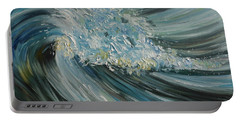 Portable Battery Charger featuring the painting Wave Whirl by Julie Brugh Riffey