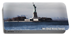 We Shall Never Forget - 9/11 Portable Battery Charger