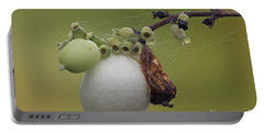 Webbed Berry Portable Battery Charger by Eunice Gibb