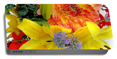 Wedding Flowers Portable Battery Charger by Rory Sagner