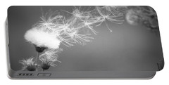 Portable Battery Charger featuring the photograph Weed In The Wind by Deniece Platt
