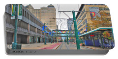 Portable Battery Charger featuring the photograph Welcome To Dt Buffalo by Michael Frank Jr