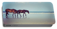 Well, This Just Happened. #wild #horses Portable Battery Charger