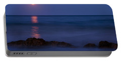 Wells Beach Maine Moonrise Portable Battery Charger