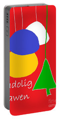 Portable Battery Charger featuring the digital art Welsh Christmas Card by Barbara Moignard
