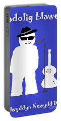 Portable Battery Charger featuring the digital art Welsh Snowman Musician by Barbara Moignard