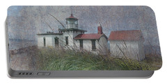 Portable Battery Charger featuring the photograph West Point Lighthouse - Seattle by Jeff Burgess