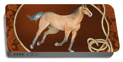 Western Roundup Running Horse Portable Battery Charger