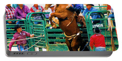 When Cowboys Take Notice Portable Battery Charger by Cheryl Poland