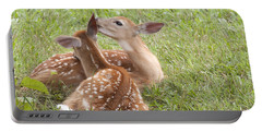 Portable Battery Charger featuring the photograph Whispering Fawns by Jeannette Hunt
