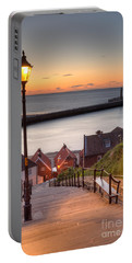 Whitby Steps - Orange Glow Portable Battery Charger