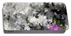 White Azalea Portable Battery Charger