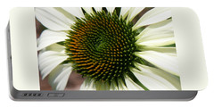 Portable Battery Charger featuring the photograph White Coneflower Daisy by Donna Corless