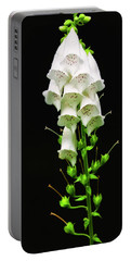Portable Battery Charger featuring the photograph White Foxglove by Albert Seger