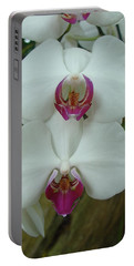 White Orchid Portable Battery Charger
