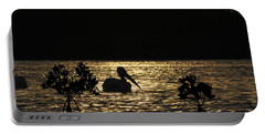 Portable Battery Charger featuring the photograph White Pelican Evening by Dan Friend