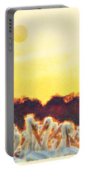Portable Battery Charger featuring the photograph White Pelicans In Sun by Dan Friend