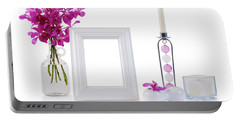 White Picture Frame In Decoration Portable Battery Charger